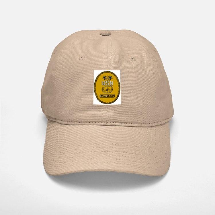 Command Master Chief<BR> White Or Khaki Baseball Baseball Cap