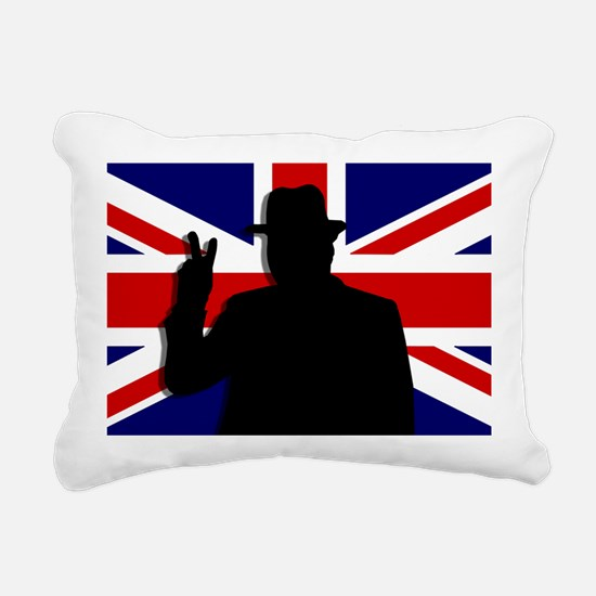 Winston Churchill Victory Rectangular Canvas Pillo