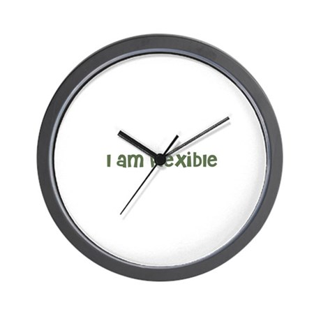 I am flexible Wall Clock