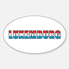 Luxembourg (German) Oval Decal