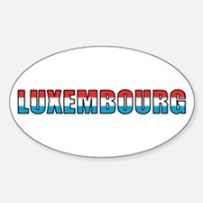 Luxembourg (French) Oval Decal