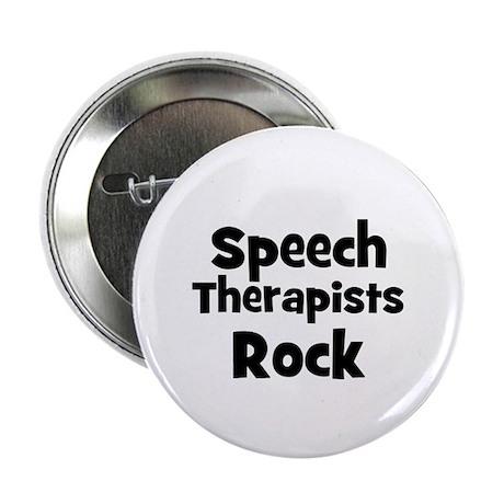 """SPEECH THERAPISTS Rock 2.25"""" Button (10 pack)"""