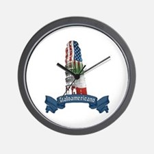 Italoamericano Leaning Tower of Pisa Wall Clock