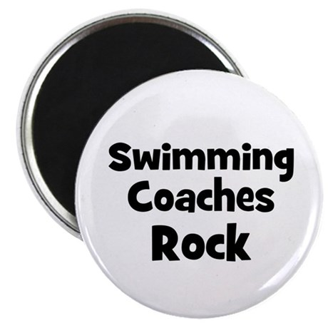 SWIMMING COACHES Rock Magnet