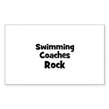 SWIMMING COACHES Rock Rectangle Decal