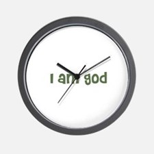 I am god Wall Clock