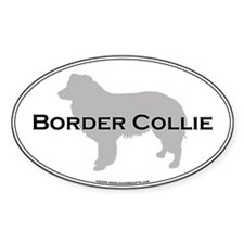 Border Collie Oval Decal