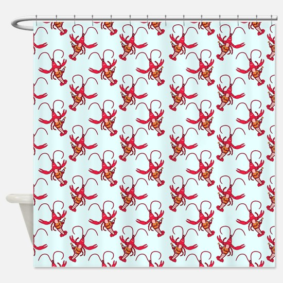 Uke Crawfish Shower Curtain