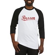 Broom, Vintage Red Baseball Jersey