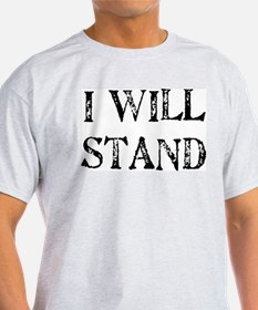 I WILL STAND Ash Grey T-Shirt