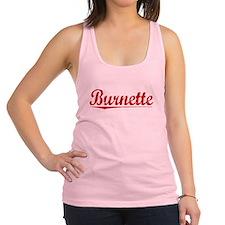 Burnette, Vintage Red Racerback Tank Top