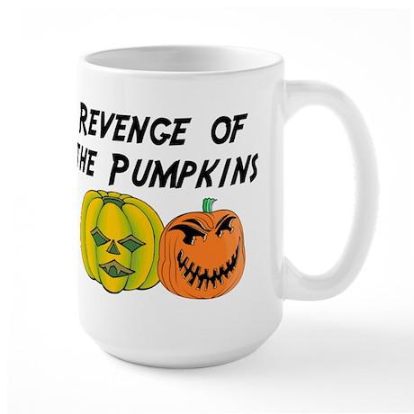 Revenge Of The Pumpkins Large Mug