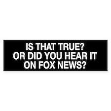 Anti Fox News Car Car Sticker