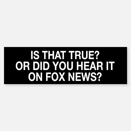 Anti Fox News Sticker (Bumper)