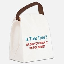 Anti Fox News Canvas Lunch Bag