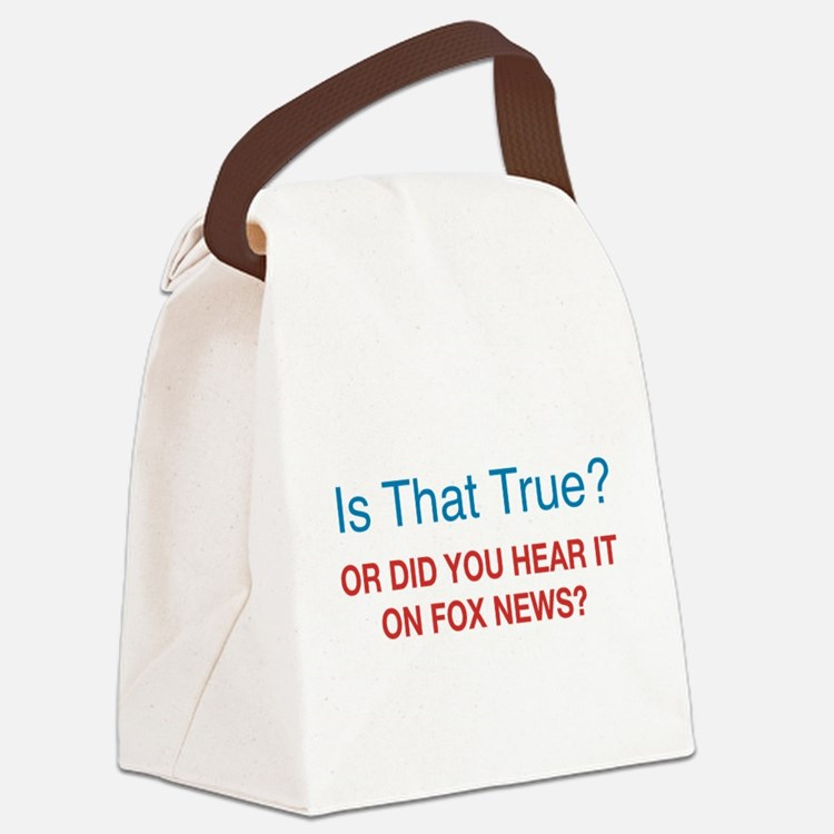 Anti Fox News Canvas Lunch Bag