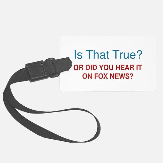 Anti Fox News Large Luggage Tag