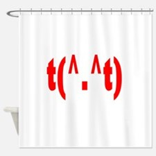 rudeemote.png Shower Curtain