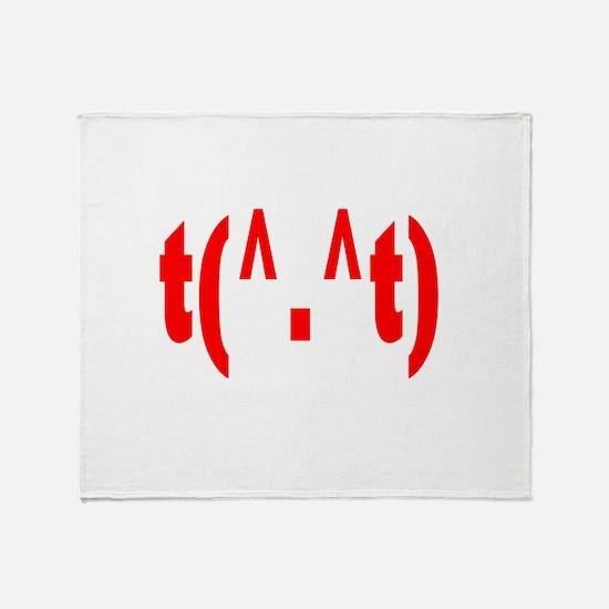 rudeemote.png Throw Blanket