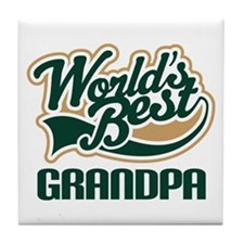 Grandpa (Worlds Best) Gift Tile Coaster