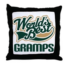 Gramps Gift (Worlds Best) Throw Pillow