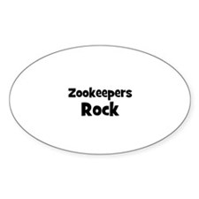 ZOOKEEPERS Rock Oval Decal