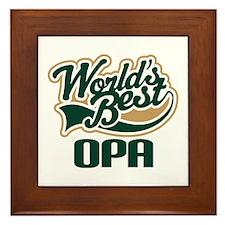 Opa (Worlds Best) Framed Tile