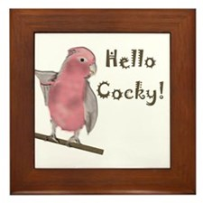 Cockatoo Humor Framed Tile