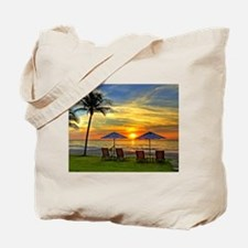 Sunset & Palm Trees Tote Bag