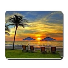 Sunset & Palm Trees Mousepad