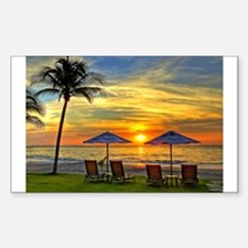 Sunset & Palm Trees Decal
