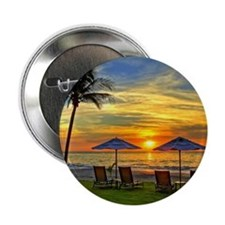 """Sunset & Palm Trees 2.25"""" Button"""