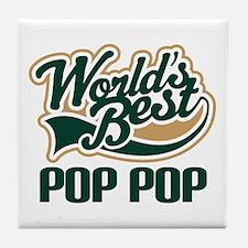 Pop Pop (Worlds Best) Tile Coaster