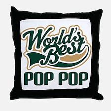Pop Pop (Worlds Best) Throw Pillow