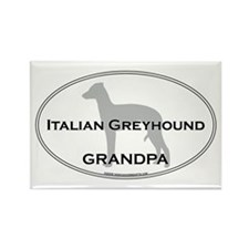Italian Greyhound GRANDPA Rectangle Magnet