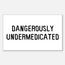 Danger Undermed Sticker (Rectangle)