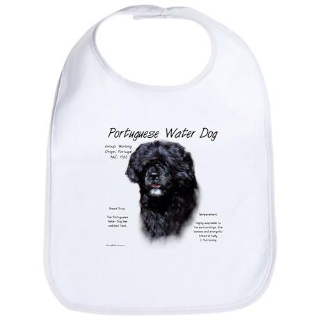 Portuguese Water Dog Cotton Baby Bib