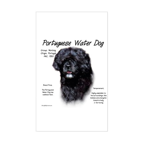 Portuguese Water Dog Sticker (Rectangle)