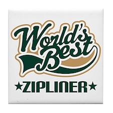 Zipliner (Worlds Best) Gift Tile Coaster