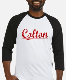Colton, Vintage Red Baseball Jersey