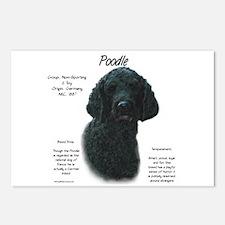Black Poodle Postcards (Package of 8)