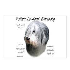 Polish Lowland Sheepdog Postcards (Package of 8)