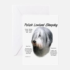 Polish Lowland Sheepdog Greeting Cards (Package of