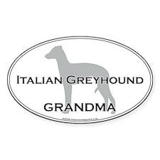 Italian Greyhound GRANDMA Oval Decal