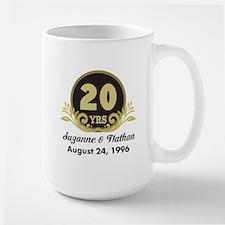 20th Anniversary Personalized Gift Idea Mugs