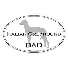 Italian Greyhound DAD Oval Decal