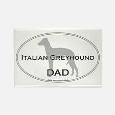Italian Greyhound DAD Rectangle Magnet