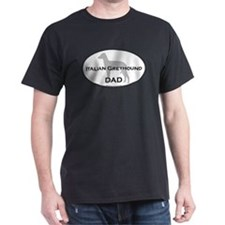 Italian Greyhound DAD Black T-Shirt