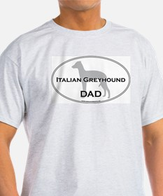 Italian Greyhound DAD Ash Grey T-Shirt