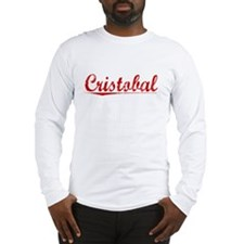 Cristobal, Vintage Red Long Sleeve T-Shirt